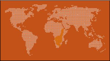 African Bullfrog Map