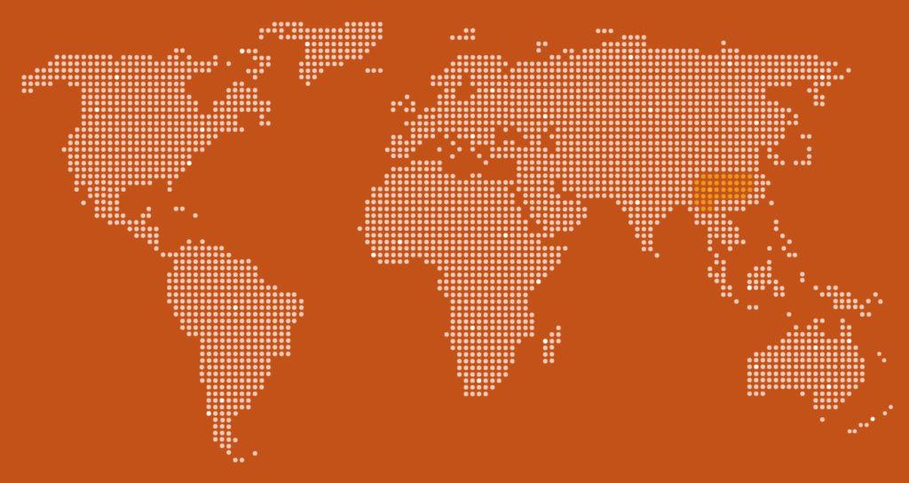 White-Cheeked Gibbon Map
