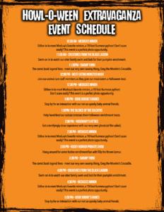 halloween show schedule